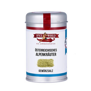Alpenkräuter Gewürzsalz , 150g Streudose