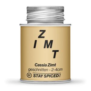 Zimt Cassia geschnitten 2-4 cm, 170 ml Schraubdose