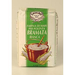 Polenta - Bramata Bianca, Maisgrieß, weiß und grob, Favero, 1 kg TÜTE