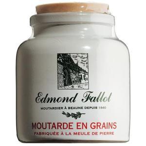 Moutarde de Dijon grobkörnig im Steintopf, Fallot 250g