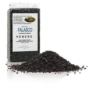 Venere, schwarzer Natur-Rundkornreis, Piemont, bestens für Risotto geeignet, 1 kg BEUTEL