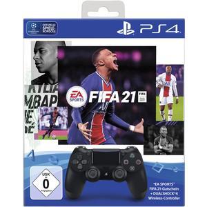 Dualshock 4 Wireless Controller - schwarz inkl. FIFA 21 [PS4]