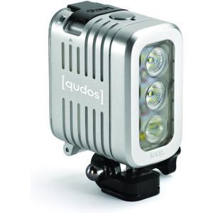 qudos - wasserdichte LED Lampe für GoPro - silber