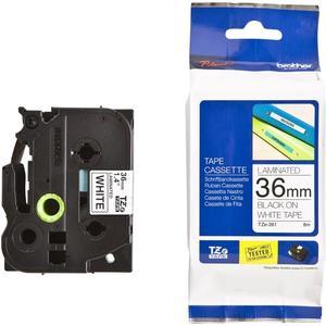 TZe-261 laminiert 36mm x 8m, schwarz/weiss