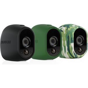 VMA1200: 3x Silikonbezug für Kameras - schwarz, grün, camouflage