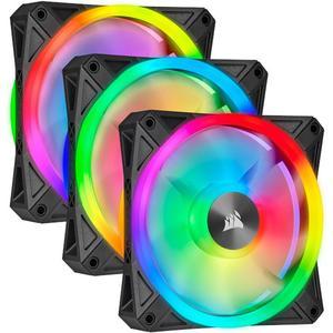 iCUE QL120 RGB 120-mm-PWM-Lüfter 3er-Pack mit Lighting Node CORE