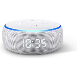 Echo Dot (3. Generation) mit Uhr - weiss