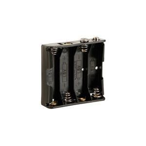 BH341B Batteriehalter 4x AA mit Druckknopfanschluss