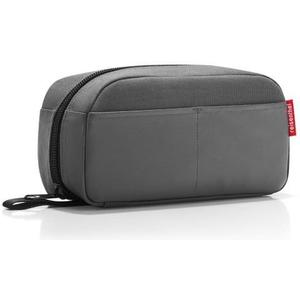 Kosmetiktasche travelcase 2.5 l canvas grey, 26 x 13 x 9.5 cm