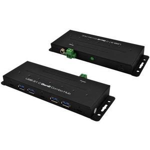 EX-1247HMVS, 3x USB-C 3.0, 4x USB-A