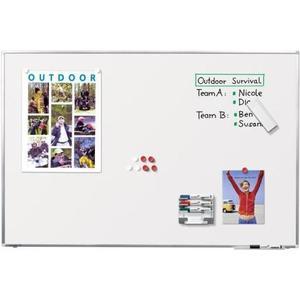 Whiteboard Premium Plus 75x100 Emaille-Oberfläche, mit Aluminiumrahmen