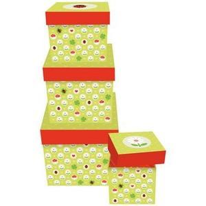 B+C Geschenkbox mit Deckel 4er Satz Kleines Glück