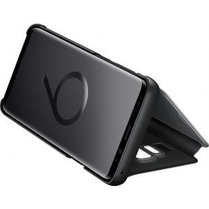 Clear View Standing Cover für Galaxy S9+ - schwarz