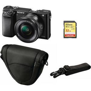 Alpha 6000 Kit (16-50mm) - schwarz, inkl. Tasche + 32GB SD