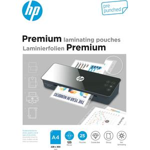 Premium Laminating Pouches, A4 prepunched, 125 Micron