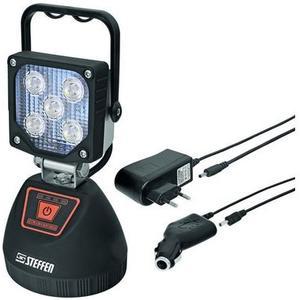 WORKLIGHT LED Akku Strahler 15W 4500K, IP44, Magnethalter im Fussteil