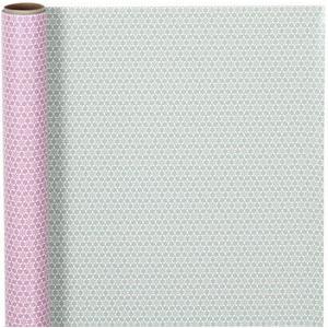 Geschenkpapier 80 g 50 cm x 5 m, grau, rosa
