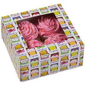 Cupcake Box Cupcake Heaven für 4 Stück