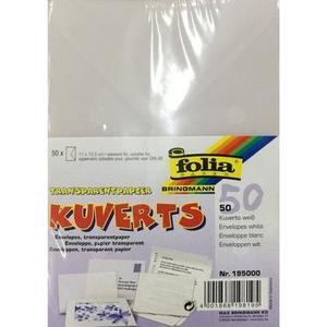 Couvert Transparentpapier 115 g/m2 50 Stück, 11 x 15.5 cm, weiss