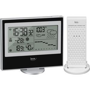 Bedienerfreundliche Wetterstation mit Barometer und Trendanzeige - schwarz
