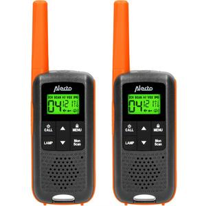 Walkie Talkie FR-225 orange/schwarz, 7km, 89h Batterie, 16 Sender, robust