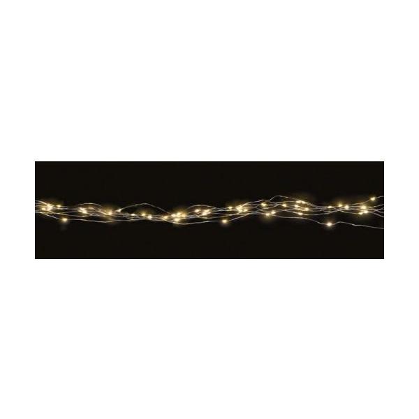 Lichterkette LED Batterie Angel Hair 60 1m, 60 LED warmweiss, Batteriebetrieben