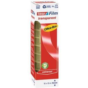 Klebeband film transparent 10m x 15mm, 10 Rollen
