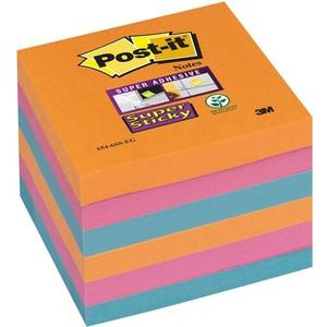 Post-it Super Sticky Farben ElectricGlow,6 Blocks à 90 Blatt ,76x76mm