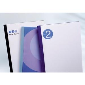 Thermobindemappe Business Line Weiss weiss, transparent, 4mm, 100Stk.