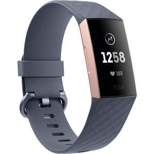 Charge 3 - rosegold - (blaugraues Armband)