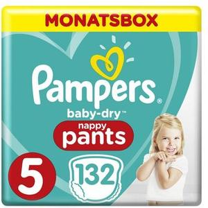 Baby Dry Pants Gr.5 Junior 12-17kg MonatsBox 132Stk.