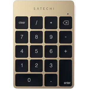 Slim Aluminium Bluetooth Tastatur Keypad Zahlenblock - gold