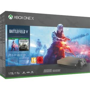 Xbox One X 1TB Battlefield V Gold Rush Special Edition Bundl