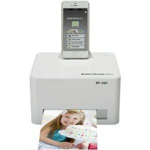 Bolle BP280 Photo-Drucker mit Lightning Dock für alle iPad, iPhone, iPod touch mit Lightning Anschluss und USB Port für Smartphones & Digitalkameras - Weiss