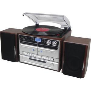 MCD5550DBR, Retro Plattenspiel. CD, DAB+, FM, 2 Kassetten Decks, BT,USB,SD