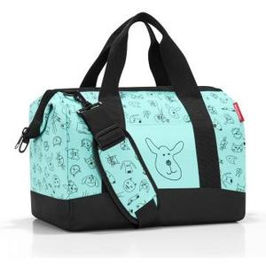 Reisetasche allrounder M kids cats and dogs mint, 40 x 33.5 x 24 cm