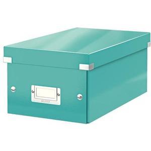 Aufbewahrungsbox DVD eisblau für 20 DVD-Hüllen zusammenfaltbar