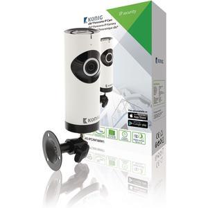 HD Unbewegliche IP-Kamera 1280x720 Panorama Weiss/Schwarz