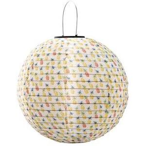 Lampion Solarbetrieben Wavy Ananas Gelb, 1 LED WW, D 30cm