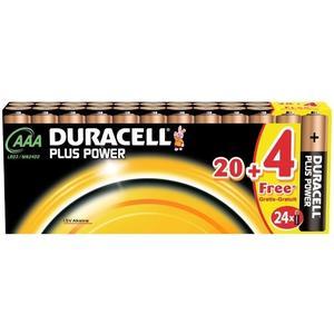 Plus Power, Typ AAA/LR03, 1.5V, Alkaline - 20er + 4 gratis Sonderpack