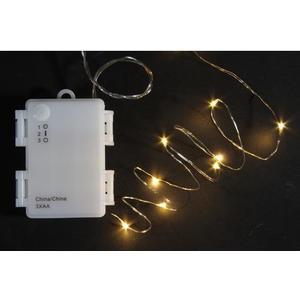 LED Lichterkette Angel Hair 8m Outdoor, Batt: m Timer 6/18h,