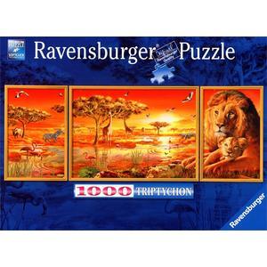 Afrikanische Impressionen - Triptychon Puzzle [1000 Teile]