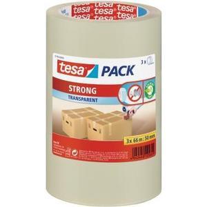 pack strong Paketband transparent, 66m x 50mm, 3 Stück