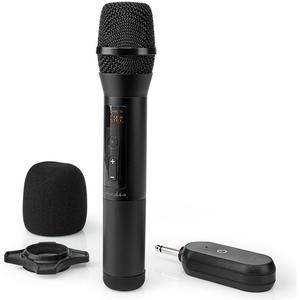 Funkmikrofon   20 Kanäle   1 Mikrofon   10 Stunden Betriebszeit   Empfänger   Schwarz