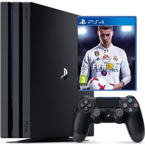 PlayStation 4 Pro (1TB) (inkl. FIFA 18 & PS Plus Voucher) (schwarz)