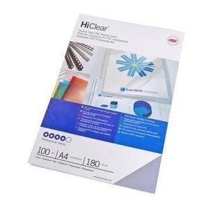 Einbanddeckel HiClear, 200my PVC, glasklar, 100Stk.