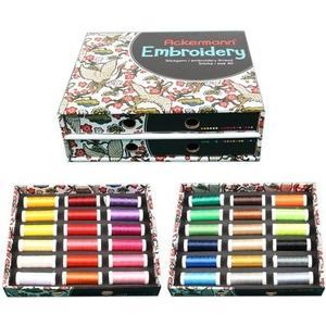 Stickgarn-Box mit 36 Farben