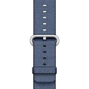 42mm Armband aus gewebtem Nylon - mitternachtsblau