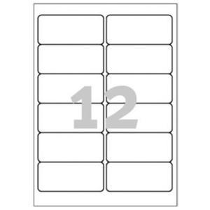Weiße Strapazierfähige Etiketten für Laserdrucker 99,1x42,3mm, 240 Stück