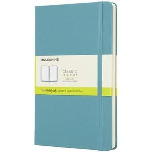 Notizbuch Classic A5 Riff Blau blanko, Hardcover